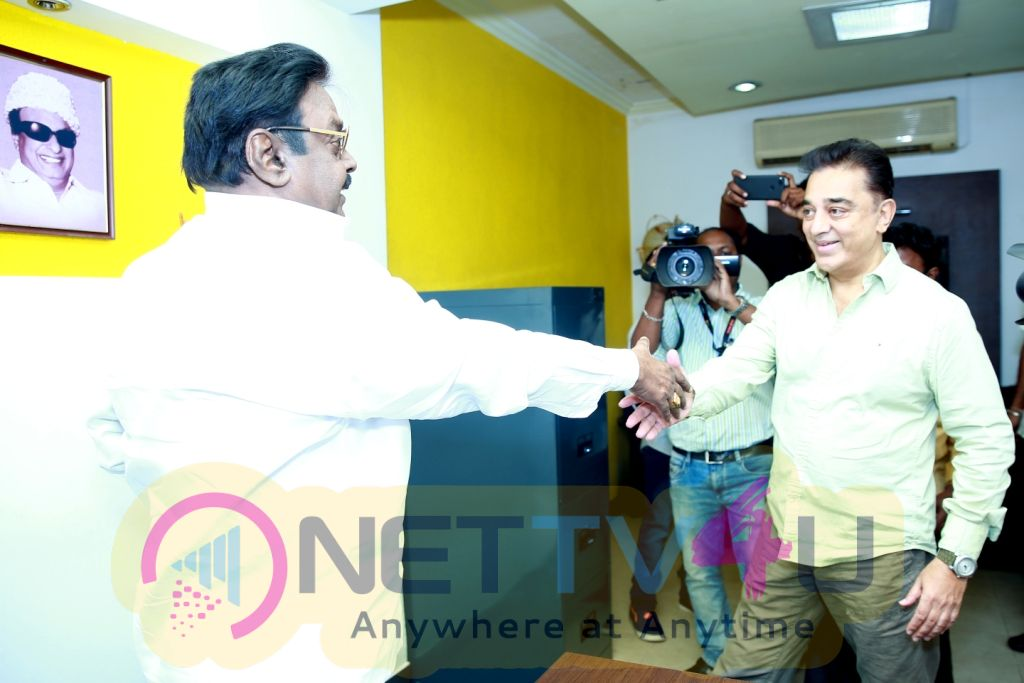 Mr Kamal Haasan Meeting With Mr Vijayakanth
