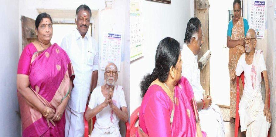 OPS Seeks Blessings From Thiagaraja Pandithar!