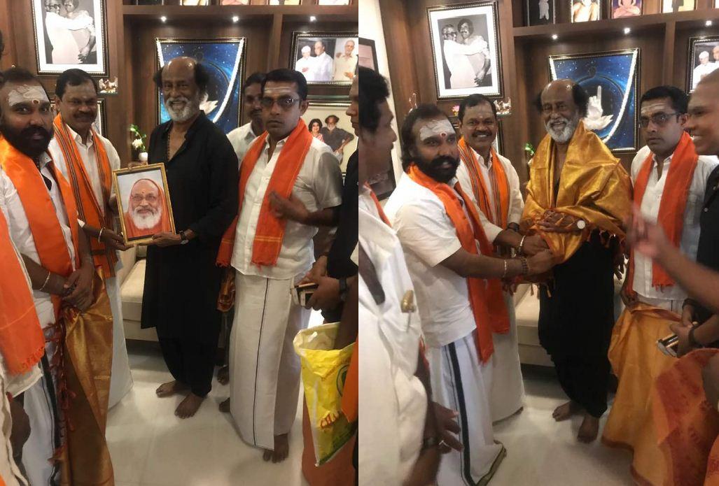 Rajini Meets Hindu Makkal Katchi Leader Arjun Sampath!