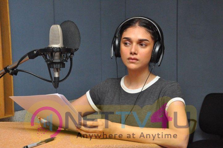 Actress Aditi Rao Hydari Dubbing For Sammohanam Movie
