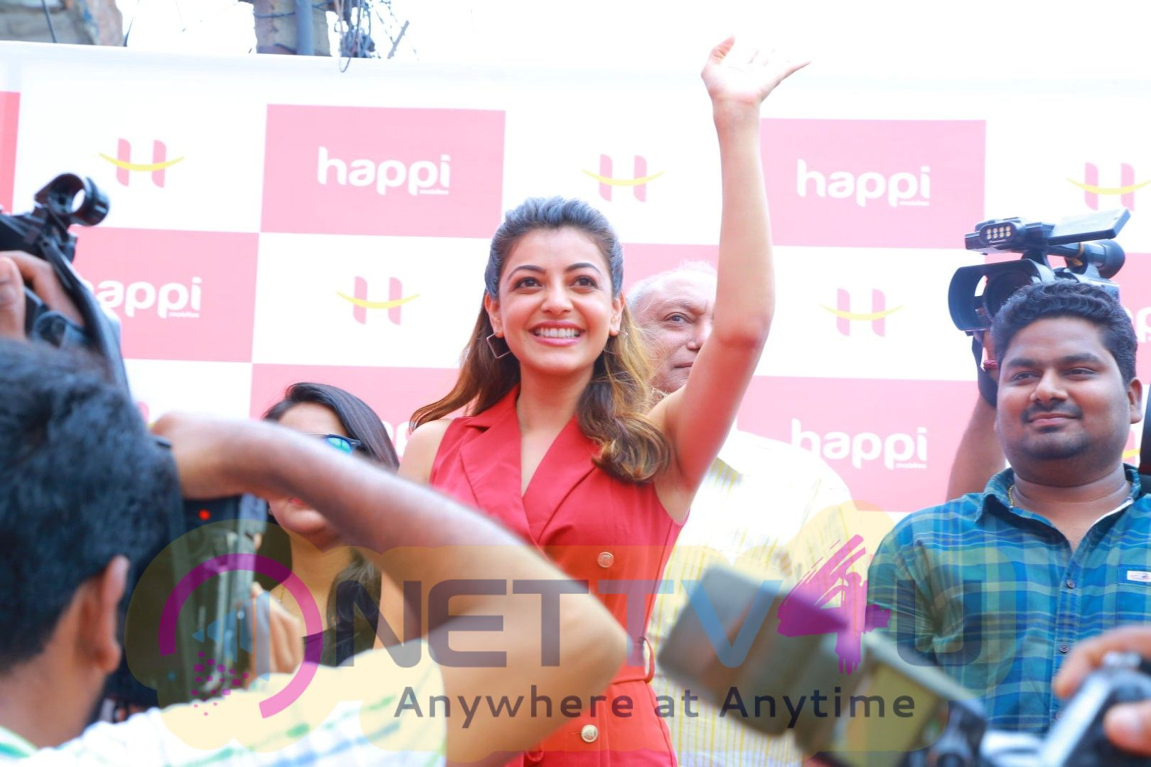 Grand Launch Of Happie Mobiles  At Hanumakonda Launching By Tollywood Actress Kajal Agarwal Best Images  Telugu Gallery