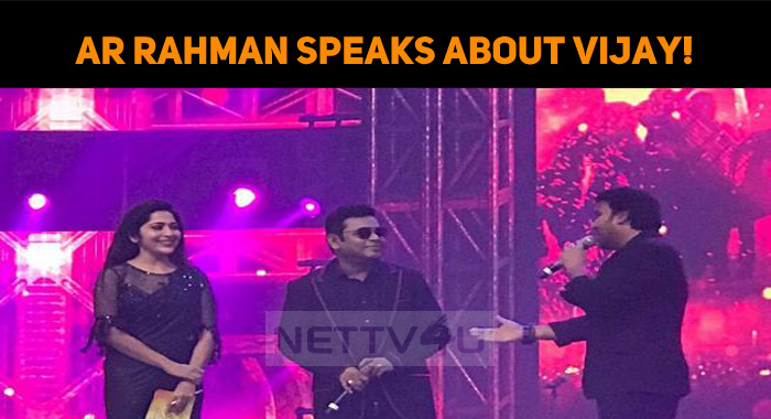 ARR Speaks About Verithanam And Vijay!