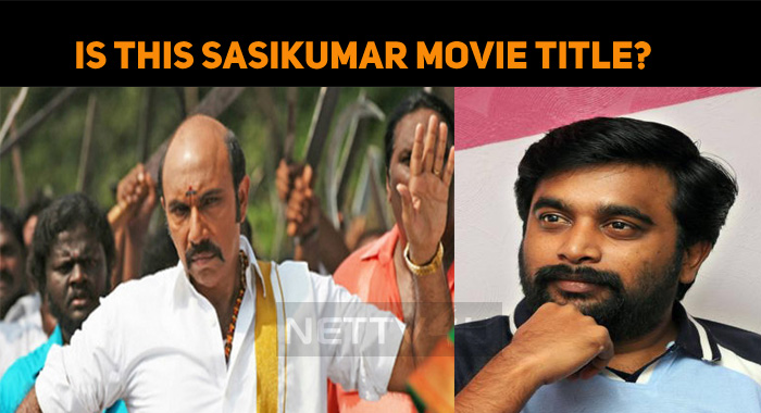 Sasikumar's Next Has MGR Connection?