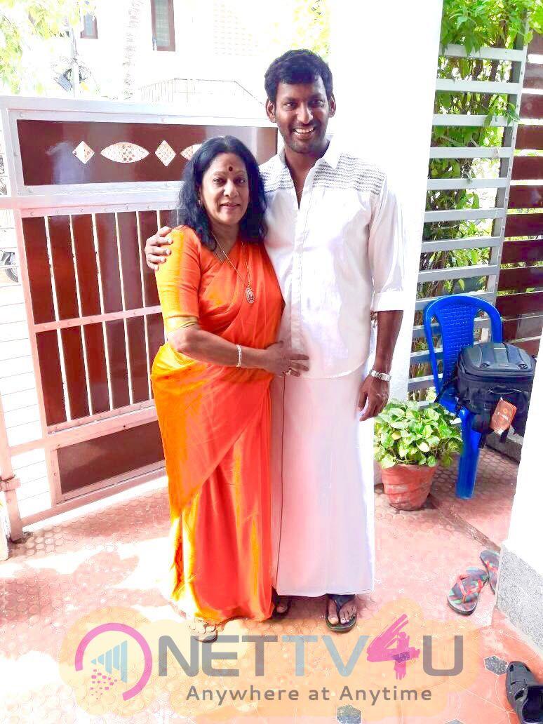 Actor Vishal Diwali Celebration Photos Tamil Gallery