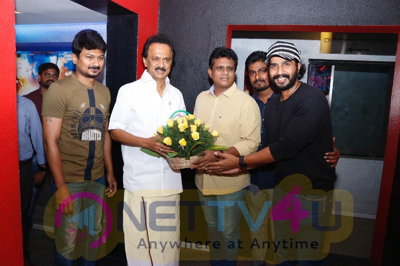 MK Stalin Meets Ratchasan Movie Team Stills  Tamil Gallery