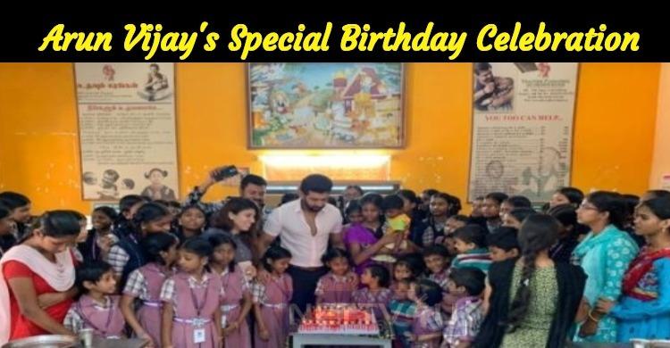 Arun Vijay Celebrated His Birthday In Udhavum Karangal!