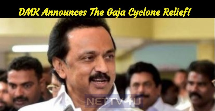 DMK Announces The Gaja Cyclone Relief!