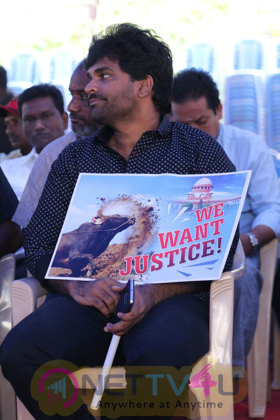 Nadigar Sangam Jallikattu Support Protest Photos