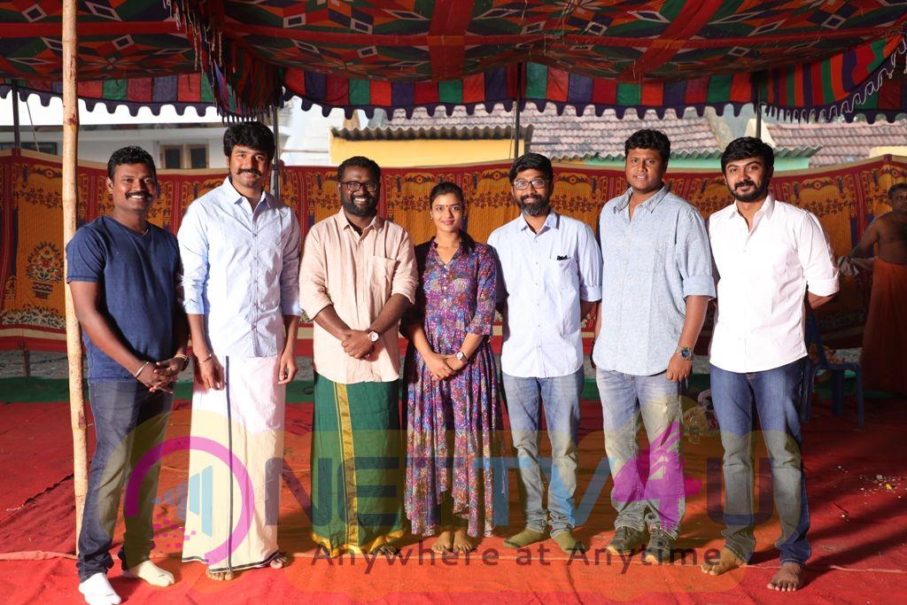 Sivakarthikeyan Productions New Movie Pooja Pics