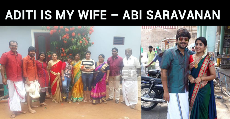 Aditi Menon Is My Wife – Abi Saravanan Shows Evidence