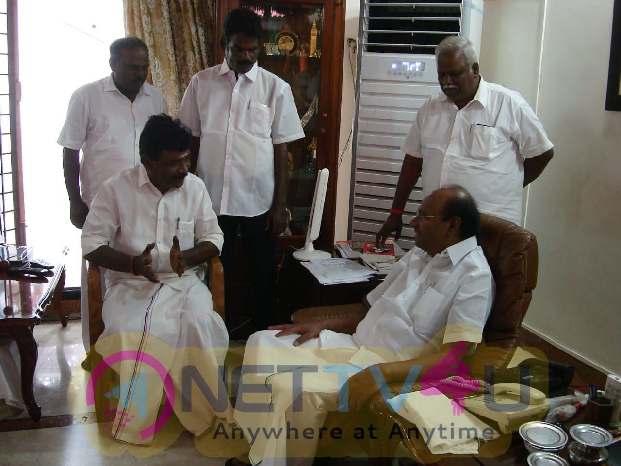 DMDK LK Sudhish & Other Politicians Meet Dr Ramadoss At His Home  Pics