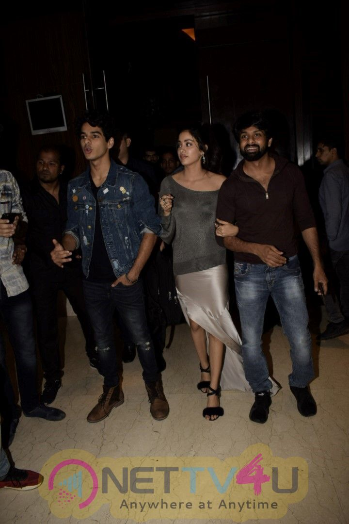Ishaan Khattar And Janhvi Kapoor During Dhadak Promotions At Novotel In Juhu Cute Images