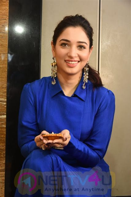 Actress Tamannaah Latest Stills At Diwali Celebrations Event