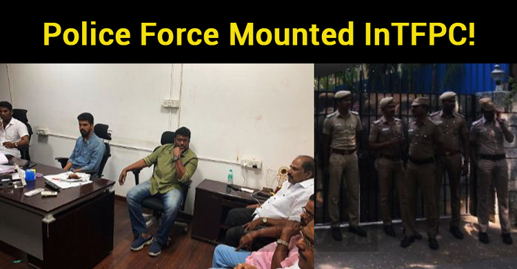 Police Force Mounted In Anna Salai TFPC!