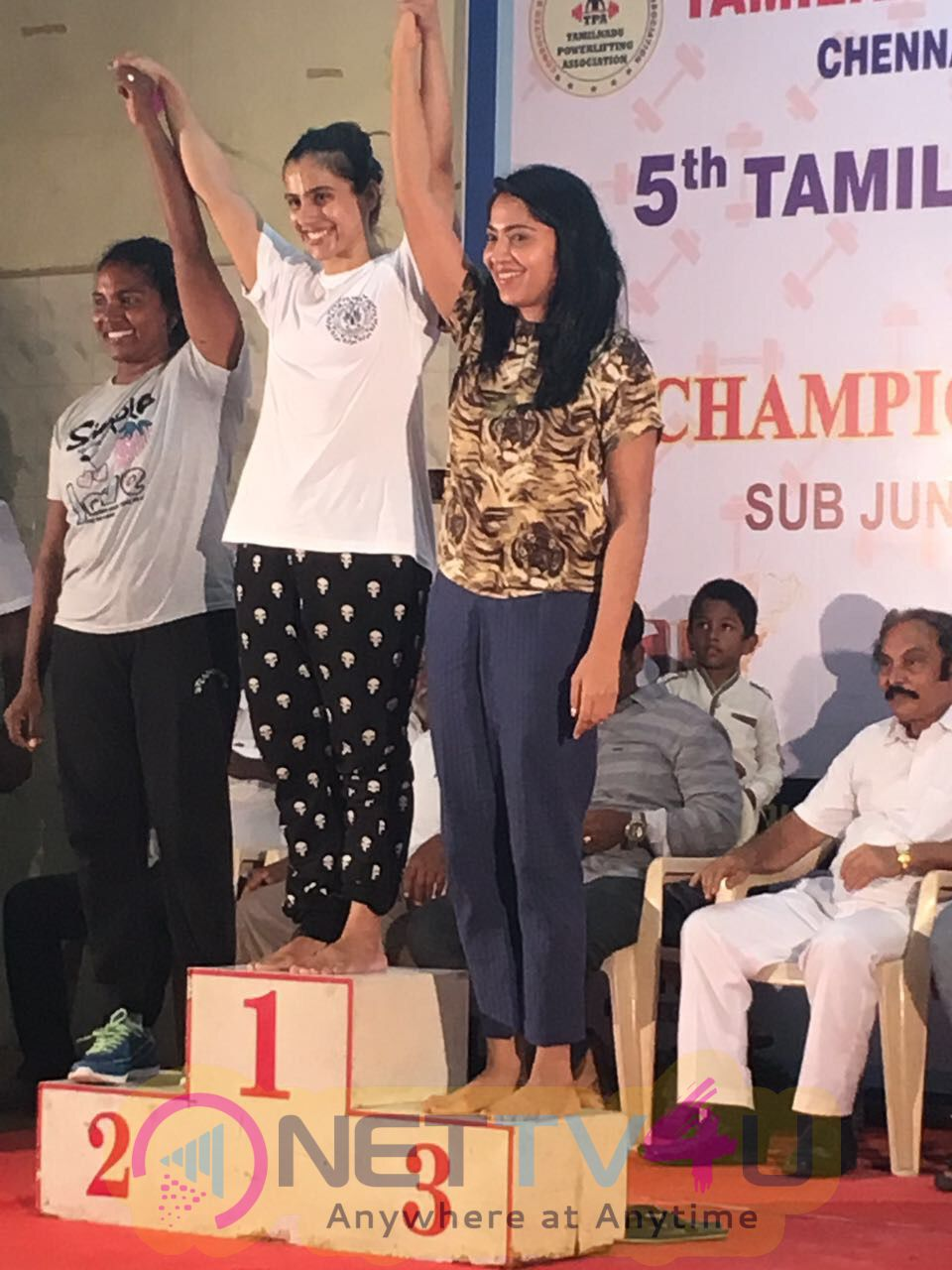 Actor Ramya Wins Bronze In Power Lifting Championship Pics