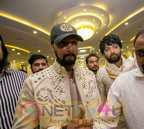 Actor Kiccha Sudeep At Rishab Shetty's Marriage Pics