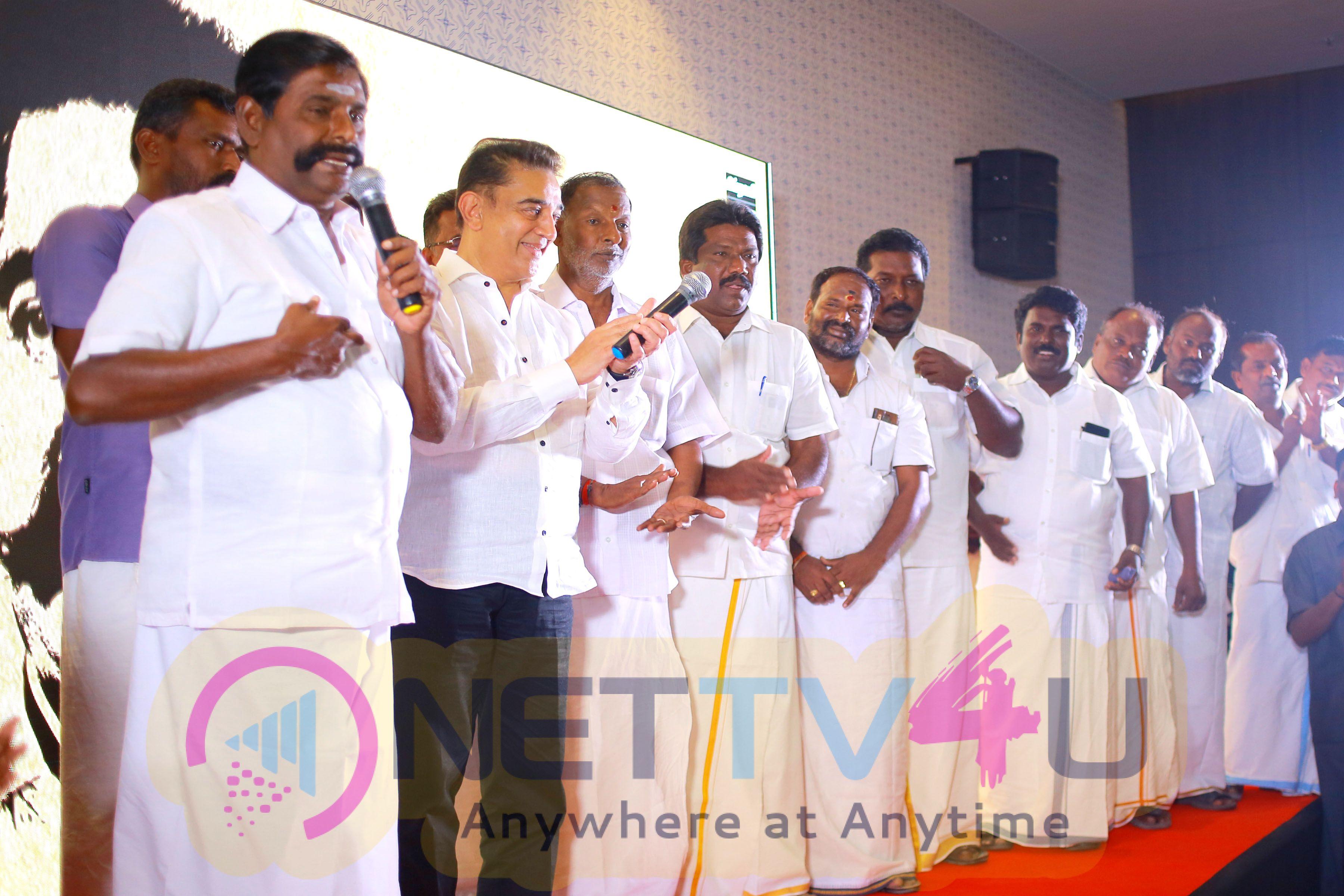 Actor Kamal Haasan Press Conference At Rameswaram Stills