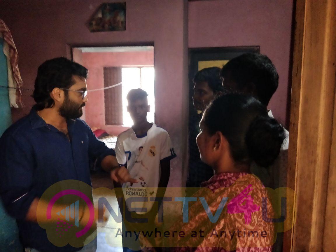 New Actor Prabha In Social Activities Pics