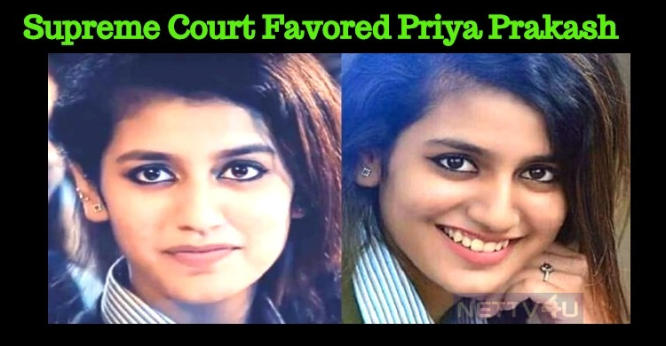 Supreme Court Favors Priya Prakash Varrier!