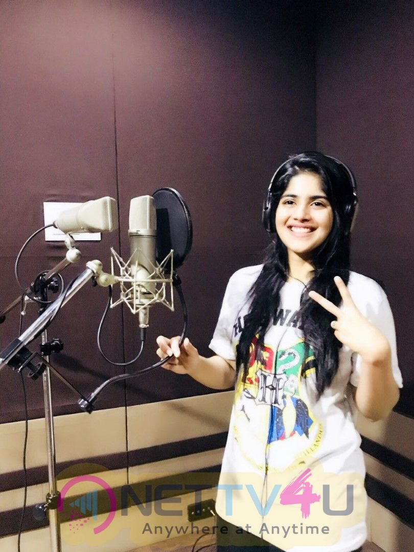 Megha Akash Thriving Voice For Boomerrang Movie Best Images