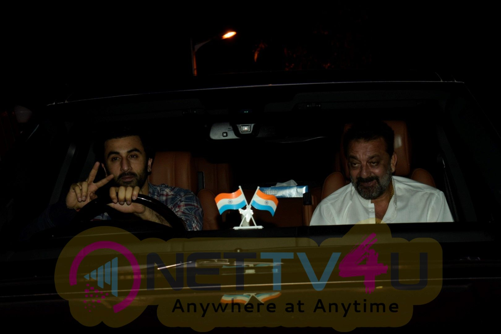 Ranbir Kapoor ,Sanjay Dutt And Alia Bhatt Spotted At Rishi Kapoors House In Bandra Best Images