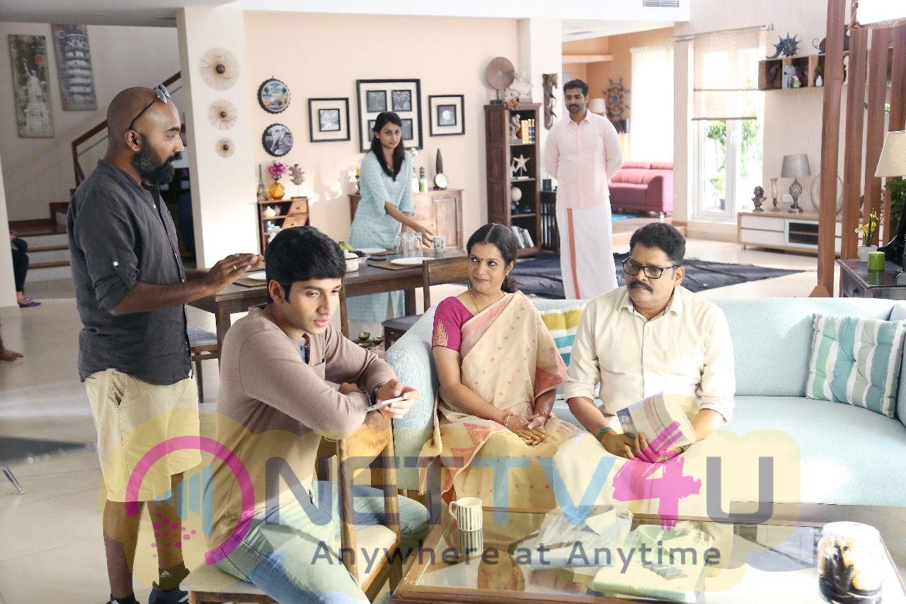 Director K S Ravi Kumar At Jansons Dhoti Advertisement Making Stills