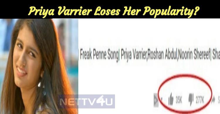 Number One In Trending But...  Priya Varrier Loses Her Popularity?