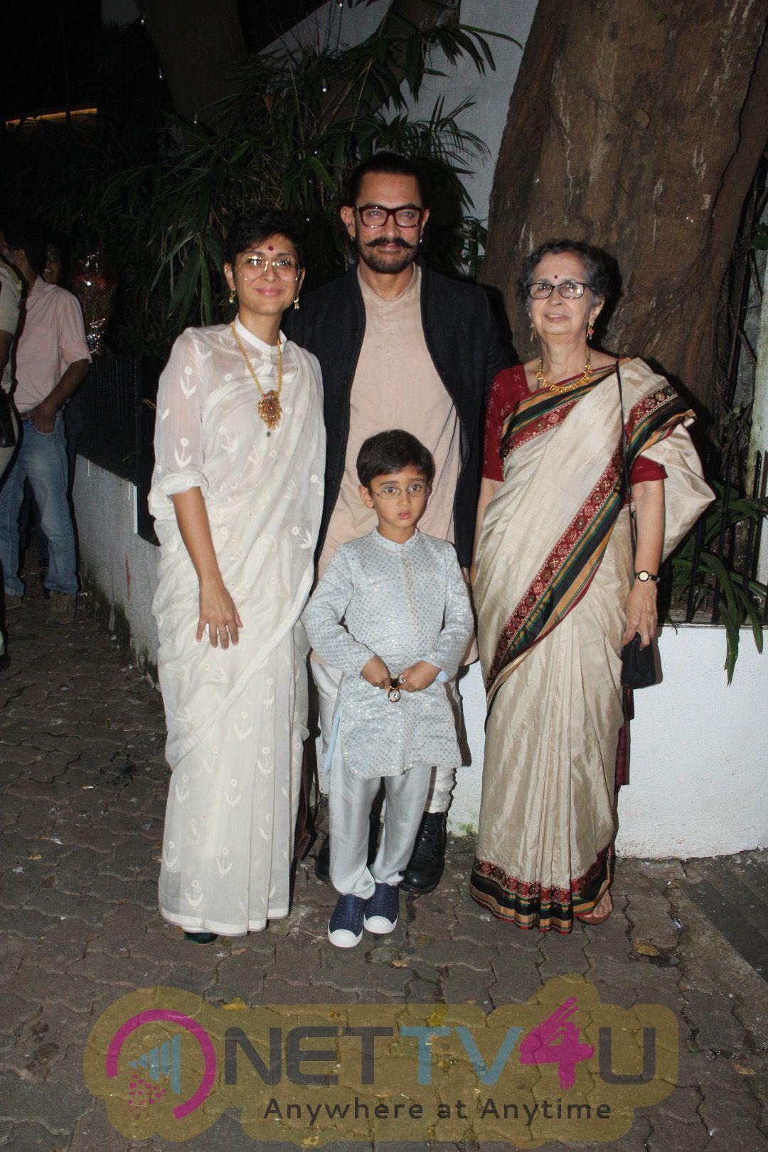 Actor Aamir Khan's Grand Diwali Party Photos