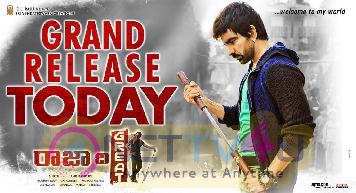 Raja The Great Movie Release Today Poster