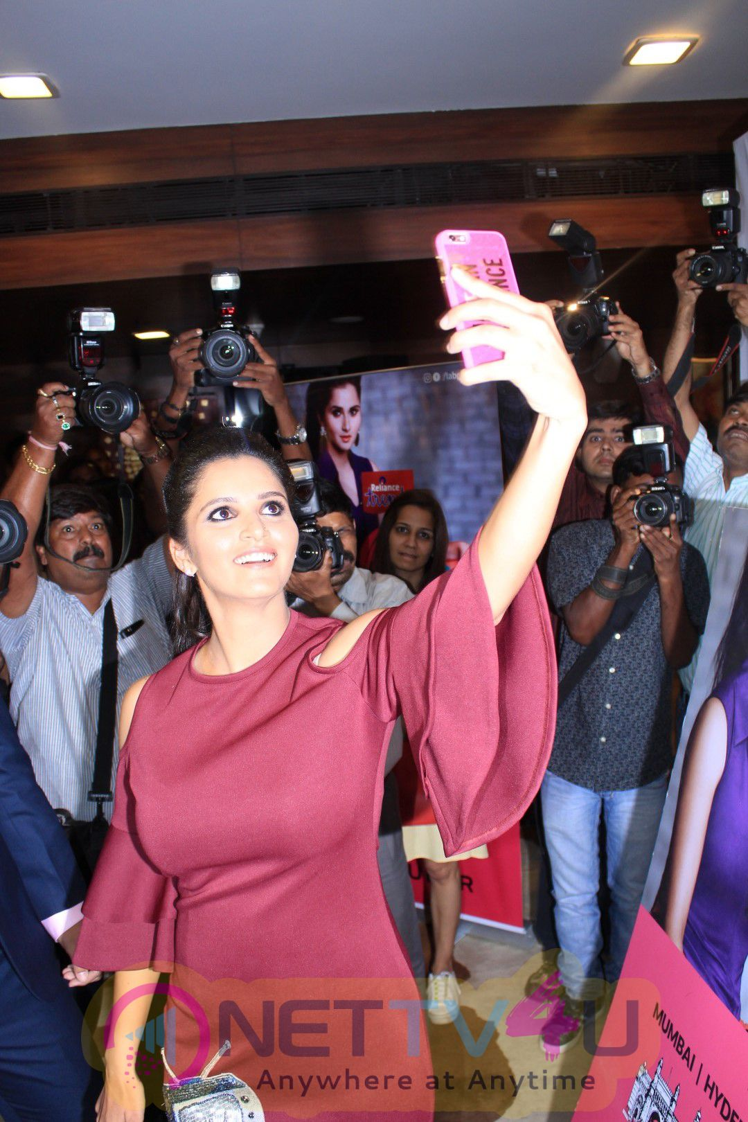 Sania Mirza At Press Conference Of The Label Bazaar Pics