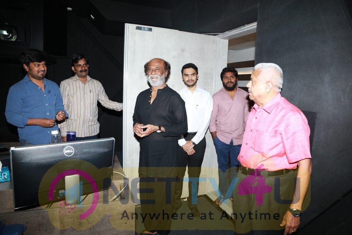 Rajinikanth Kaala Movie Dubbing Photos