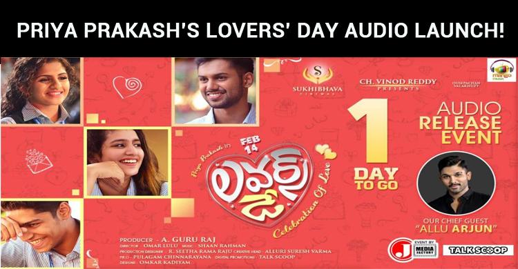 Priya Prakash's Lovers' Day Audio Launch!