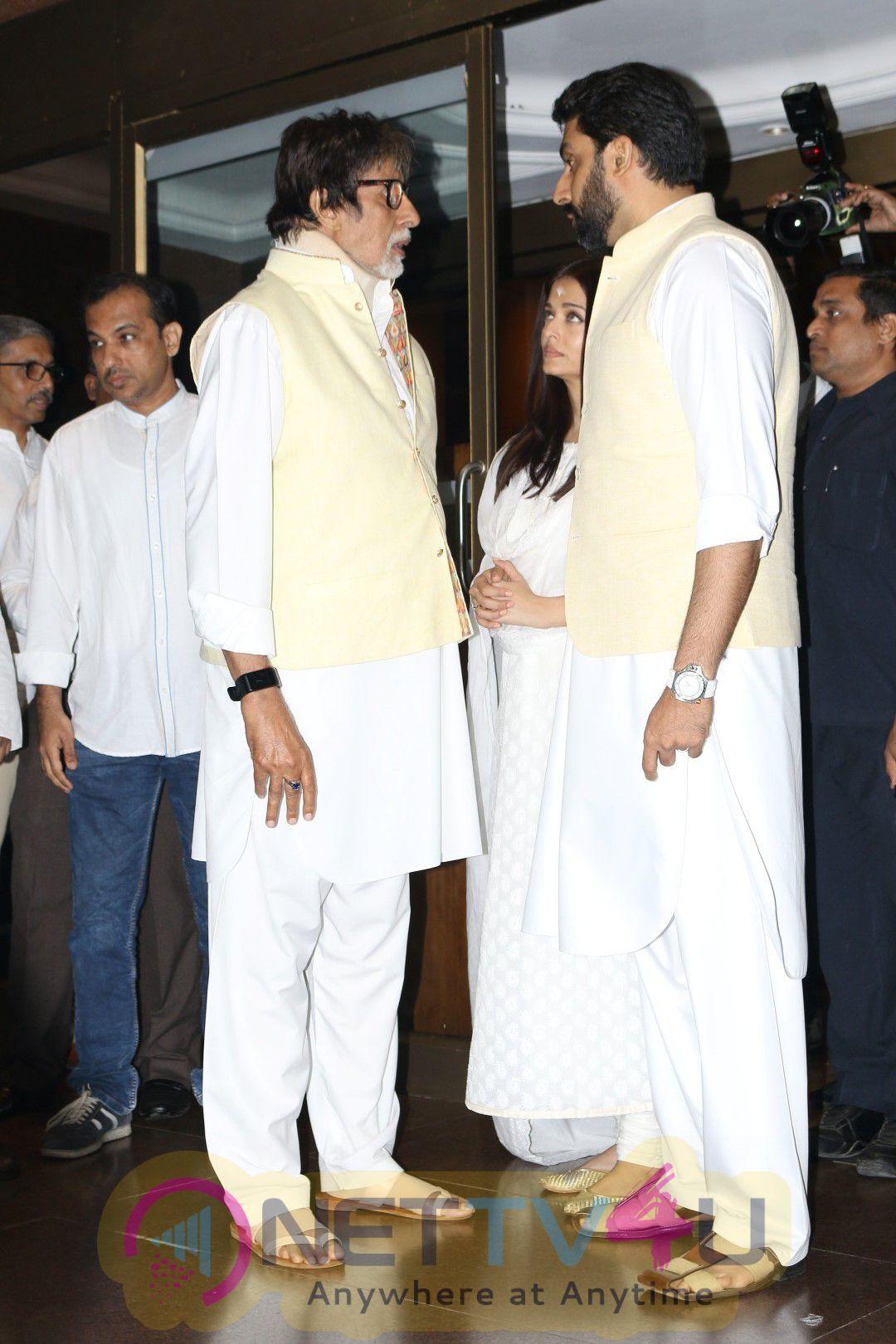 Aishwarya Rai Father Prayer Meet Stills