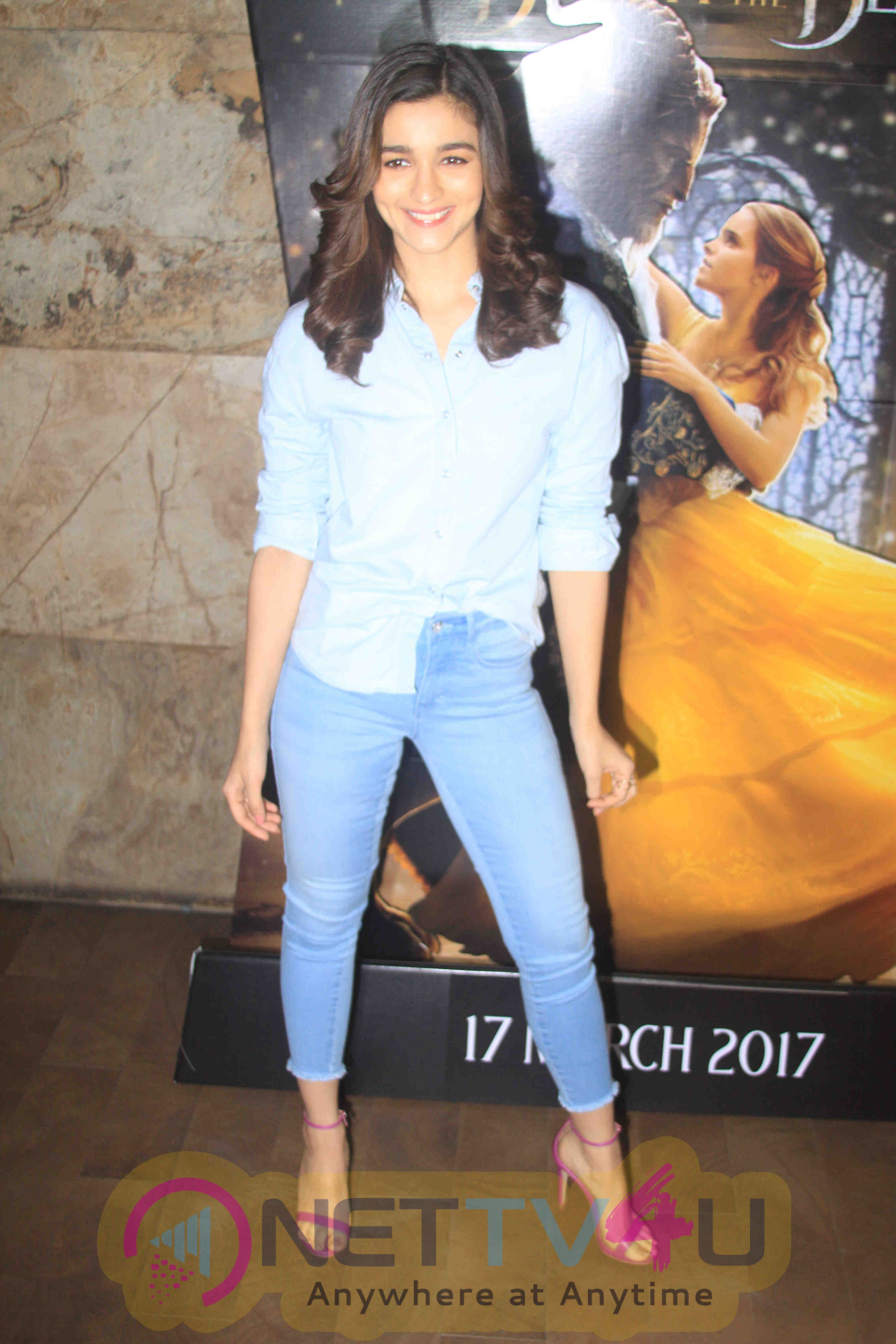 Alia Bhatt At Special Screening Of Film Beauty And The Beast With NGO Kids Stills