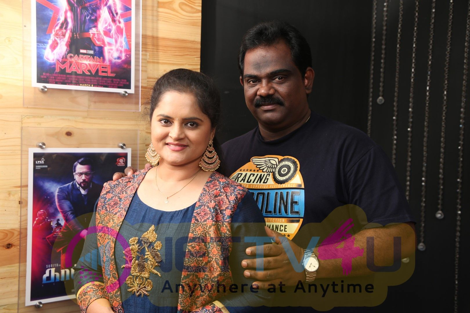 Lovely Couples Swetha & Tamil Bharathi Exclusive Interview Images Tamil Gallery