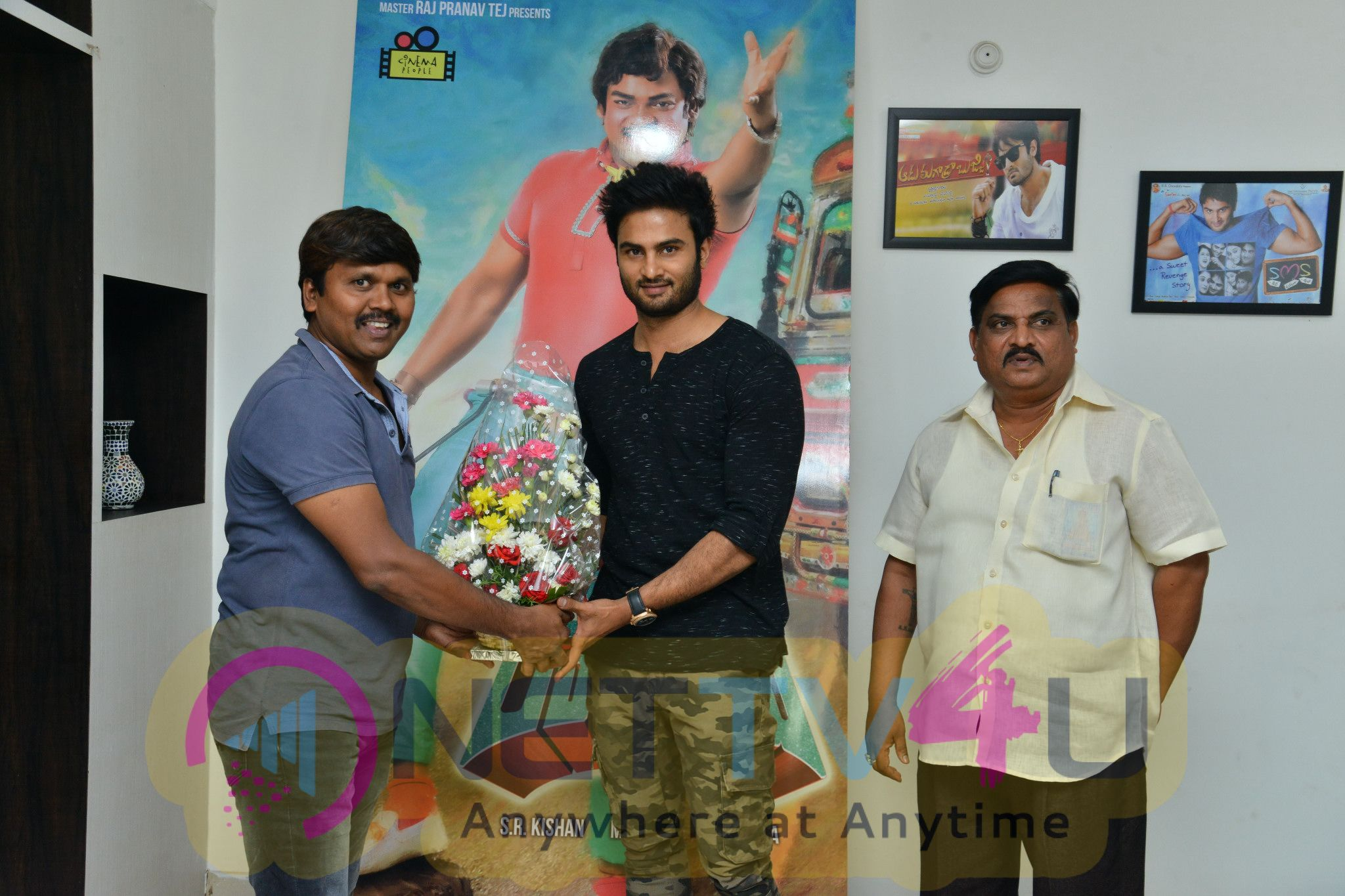 Driver Ramudu Movie Teaser Launch By Sudheer Babu Pics Telugu Gallery
