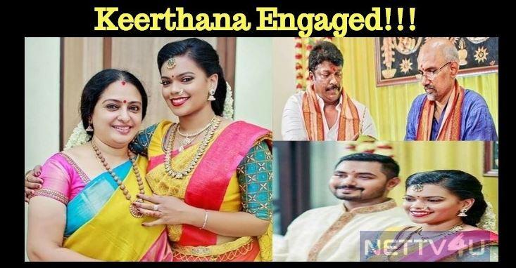 Keerthana's Wedding Engagement Went On Fine!