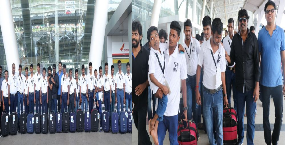 Mime Gopi Fulfils The Visually Challenged Boys' Wish To Fly!