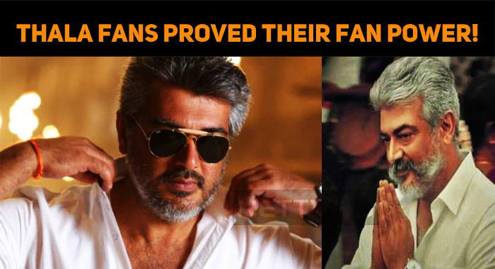 Thala Fans Proved Their Fan Power!