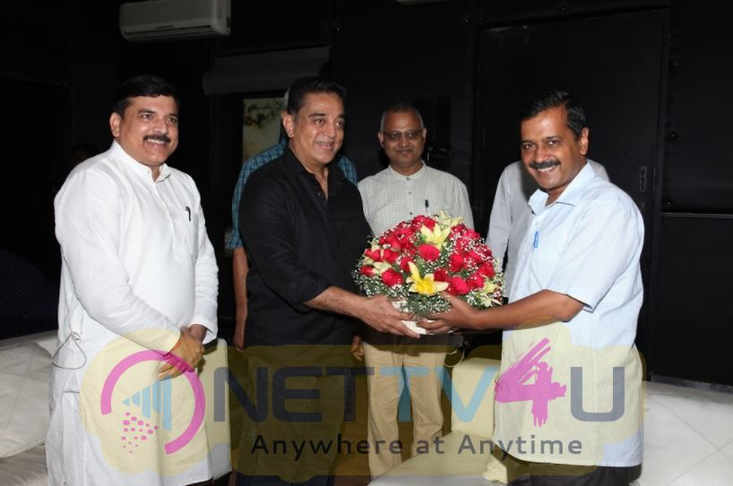 Photos Of Mr. Kamal Haasan With Delhi CM