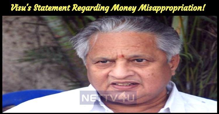 Visu's Statement Regarding Money Misappropriation!