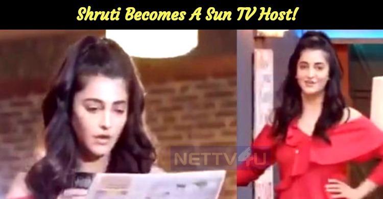 Shruti To Host A TV Show!
