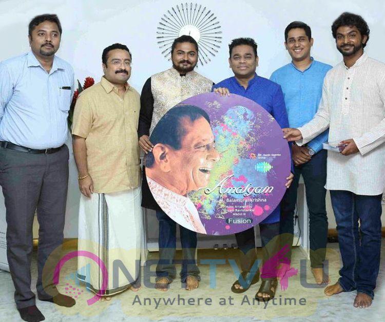 AR Rahman Launches Dr M Balamuralikrishnas Fusion Album Amalgam Pics
