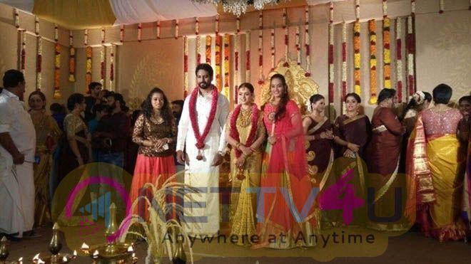 Actress Bhavana And Naveen's Wedding Stills