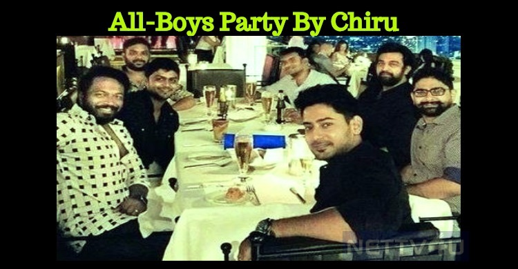 Chiranjeevi Sarja Enjoying His Bachelor Life!
