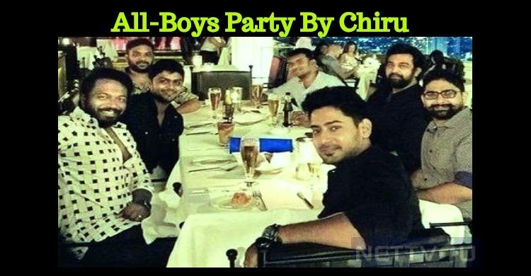 Chiranjeevi Sarja Enjoying His Bachelor Life!