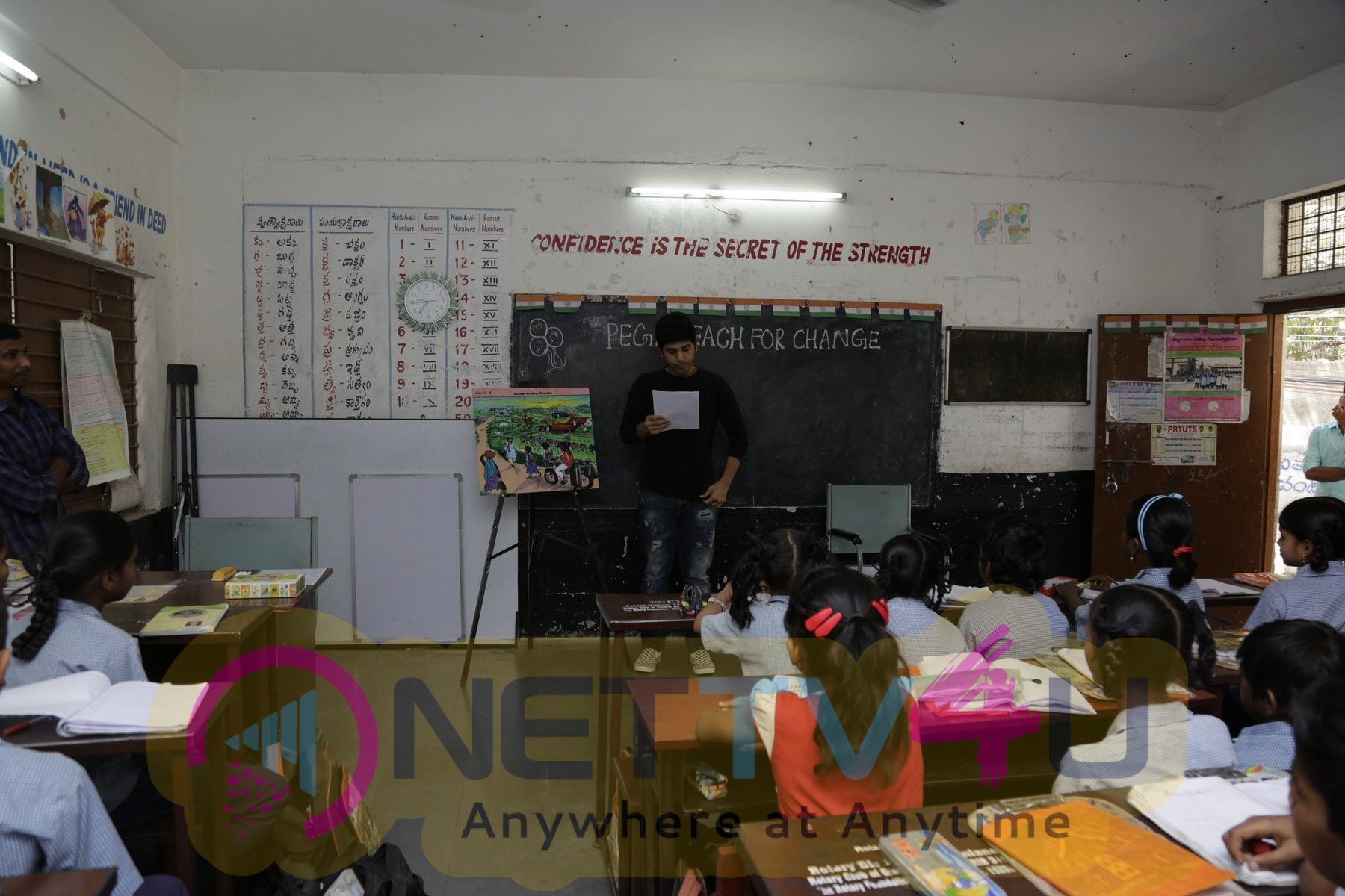 Allu Sirish Teaches English To Kids Supported Under Pega Teach For Change Initiative