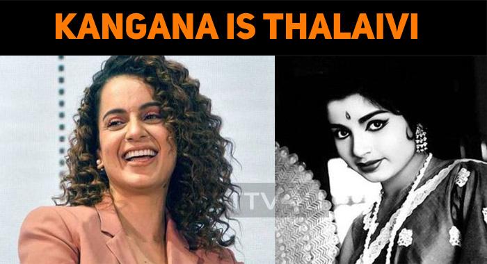 Kangana Ranaut Plays Madam Jayalalithaa!