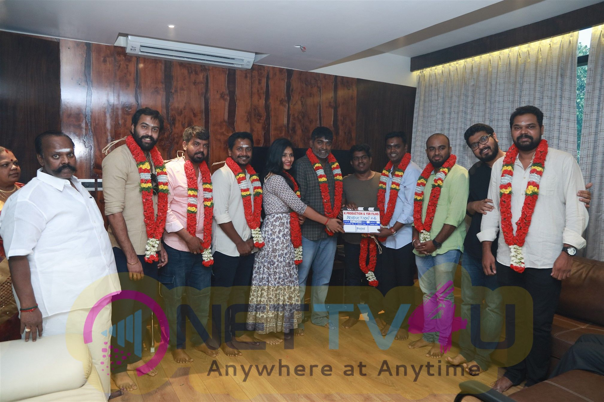 Vijay Sethupathi & Anjali New Movie Pooja Stills