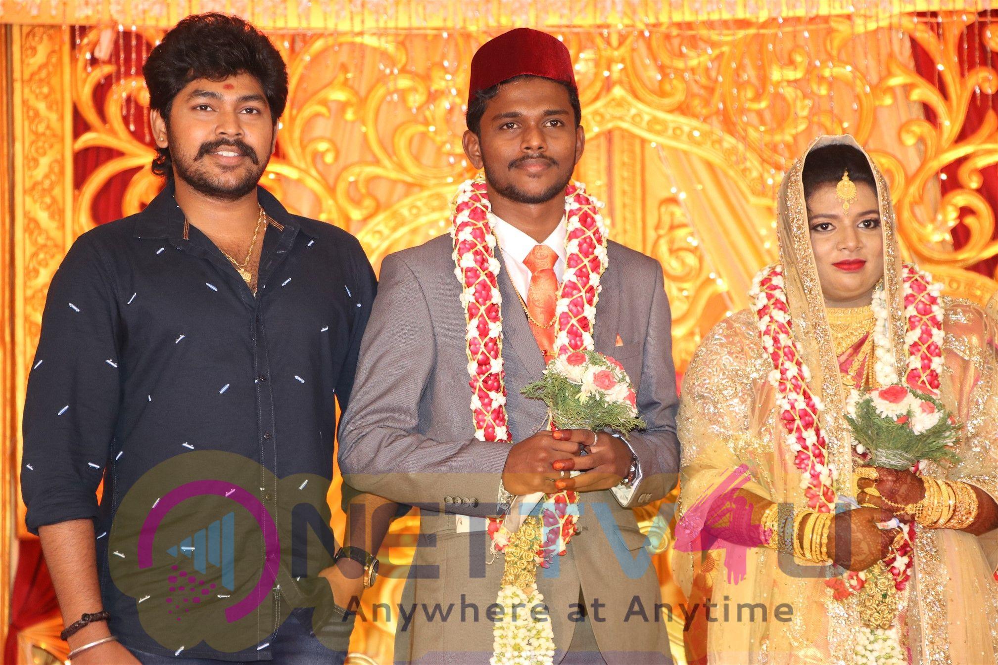 Chidambaram Railway Gate Movie Producer Producer SM Ibrahim Daughter Wedding Reception Stills  Tamil Gallery